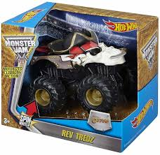 100 Hot Wheels Monster Truck Toys Jam Rev Tredz Pirate Friction Toy Car 12cm