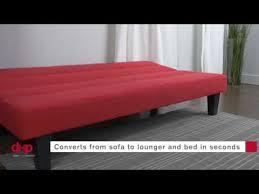 kebo futon sofa bed multiple colors video youtube