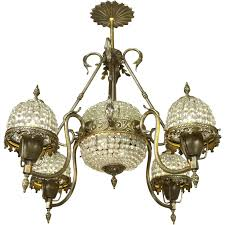 French Chandelier Simple Ornate Early Thcentury