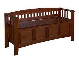 Amazon Linon Home Decor Storage Bench With Short Split Seat Walnut Kitchen Dining