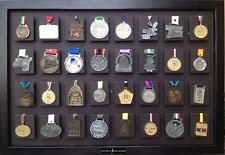 32 Medal Display Frame For Marathon Half Ironman Triathlon Sports