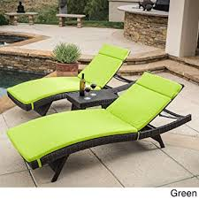 Amazon Patio Lounge Cushions by Amazon Com Christopher Knight Home Luana Outdoor 3 Piece Wicker
