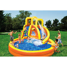 Banzai Typhoon Twist Inflatable Water Slide