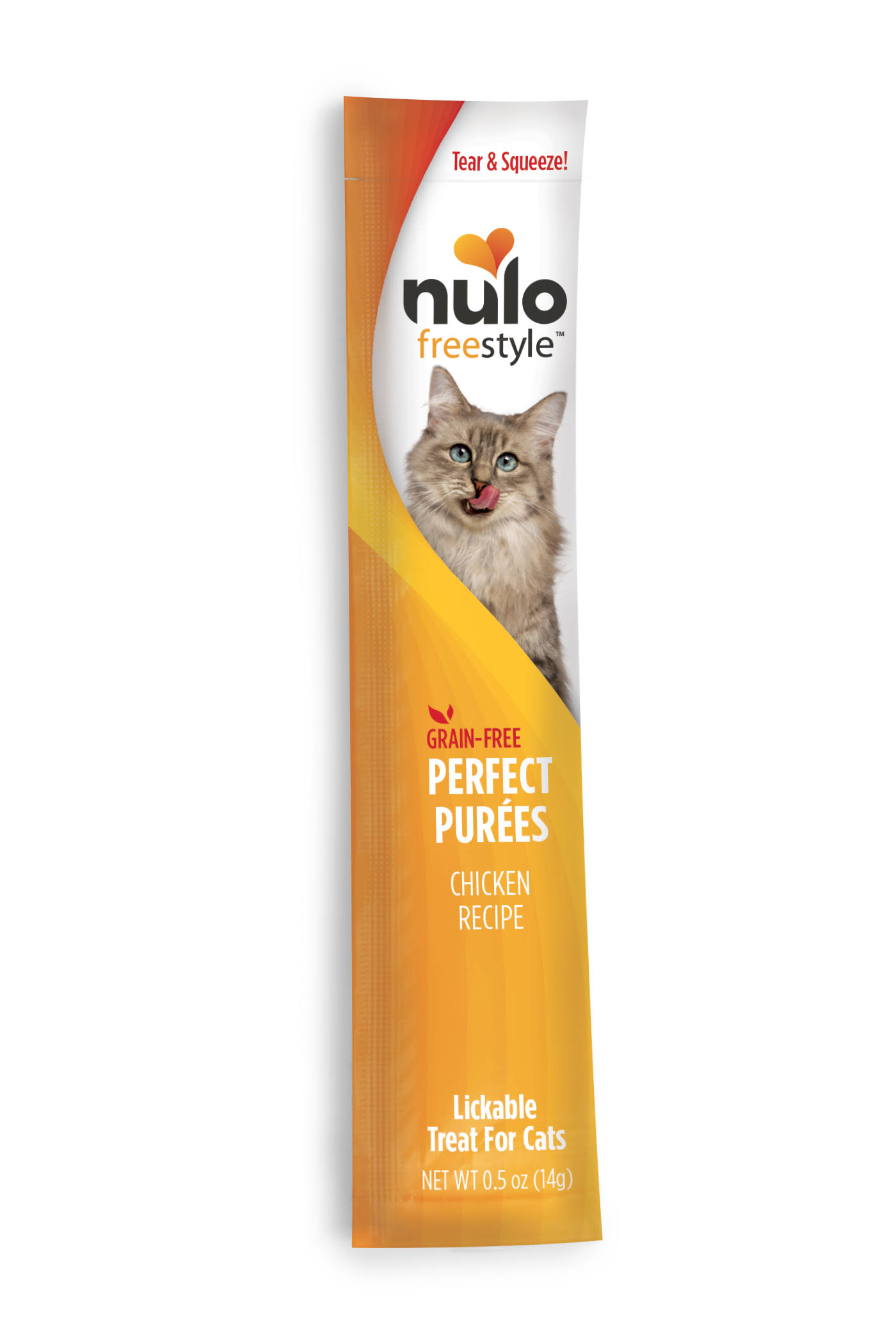 Nulo Freestyle Puree Grain-Free Cat Treat .5oz Chicken