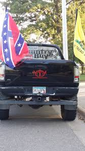 100 Country Boy Trucks Robin Hensel CONFEDERATE Flag Flyin Parked Across