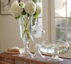 Voluminous Clear Glass Vases