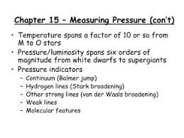 Chapter 15 Measuring Pressure Cont