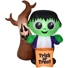 Disney Halloween Airblown Inflatables by Halloween Airblown Inflatable 5 Ft Monster And Spooky Tree Scene