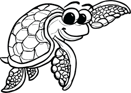 Aquatic Plants Coloring Pages Cute Sea Animals Underwater For Toddlers Tortoise Turtle Page Large Size