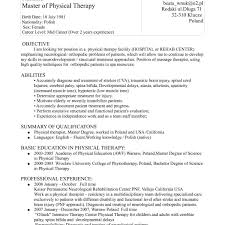 Sample Physical Therapy Resume Unique Massage Therapist Functional Examples