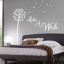 Make A Wish Dandelion Quote Wall Sticker Floral Pretty Seed Stems In Home Furniture DIY Decor Decals Stickers