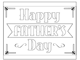 Fathers Day Free Coloring Book Page Download