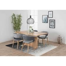 ac design grace stuhl 56x52x79cm dunkelgrau grau eiche