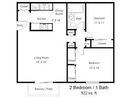 one bedroom one bath floor plans
