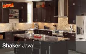 The Java Shaker Kitchen Cabinets Are A Black Solid Wood Cabinet With Birch Panel Full