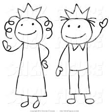 princess and prince clipart clip art of a stick figure queen and king or princess and prince by c charleyfranzwa 344
