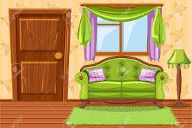 set green vintage gepolsterte möbel wohnzimmer