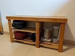 sitzbank aus bambus mit stauraum für küche flur bad