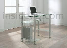 bureau transparent verre desk bureau verre transparent 4 plateaux