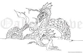 Sea Dragon Printable Coloring Page