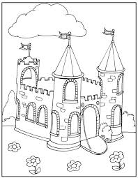 Castle Coloring Pages Camolot