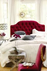 White Velvet King Headboard by Best 20 Red Headboard Ideas On Pinterest Peppermint Bliss Red