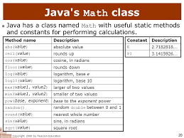Math Ceil Floor Java by Copyright 2006 By Pearson Education 1 Building Java Programs