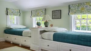 Cool Twin Bedroom Design with Double Bed for Teenage Room Room