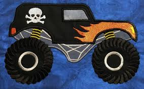 Monster Truck Applique Embroidery Machine Design Fro 5