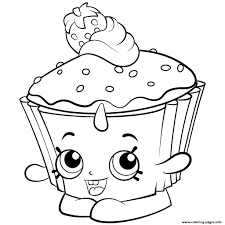 Kawaii Cupcake Coloring Pages Collection