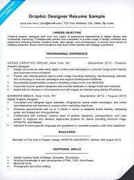 Graphic Artist Sample Resume Designer Design Examples 2014