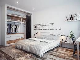 diy hipster bedroom ideas free standing white frame mirror grey