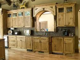 Rustic Kitchen With Pine Cabinets Durable Pine Kitchen Cabinets