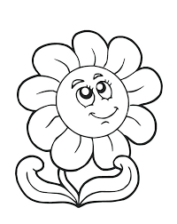 Coloring Spring Flower Color Pages Free Sheets