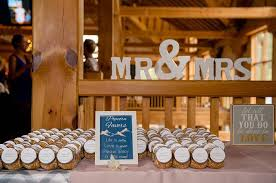 Mr Mrs Favor Table From A Rustic Chic Mountain Wedding On Karas Party Ideas