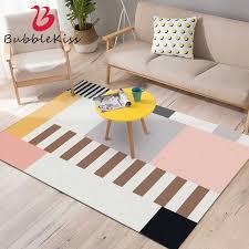 blase kuss nordic stil mode farbe rosa teppich grau schwarz schlafzimmer dekor moderne design nähte muster teppich wohnzimmer teppiche