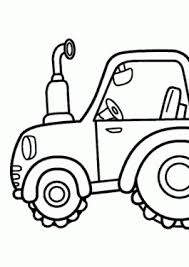 Tractor Transportation Coloring Pages For Kids Printable Free