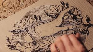 Linocut Printmaking Process By Maarit Hanninen