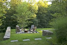 100 Hudson Valley Architects Residence Fire Pit And Fieldstone Walls