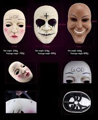 The Purge God Mask Halloween by Purge Mask God Cross Scary Halloween Masks Cosplay Party Prop