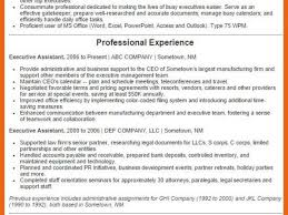 Fresh Executive Assistant Resume Samples 2016