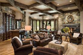 Rustic Traditional Family Room Photo Courtesy Of Apartment Lifestyle