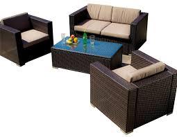 patio sofa dining set westlake brown wicker 4pc outdoor sofa set kitchen