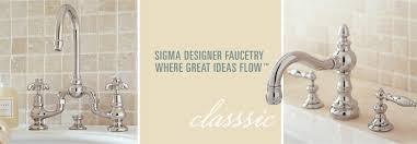 Unlacquered Brass Bathroom Faucet by Sigma Designer Faucetry