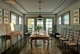 Wainscoting Under Window Dining Room Traditional With French Doors Wooden Buffets And Sideboards