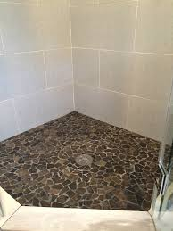 large glazed grey mosaic tile shower floor tile it