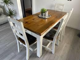 angebot esstisch landhausstil mit 4 stühlen und einer sitzbank