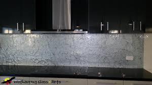 Silver Textured Kitchen Splashback