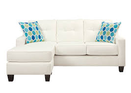 Furniture World Petal MS Al Nuvella White Queen Sofa Chaise