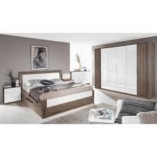 schlafzimmer set arona 4tlg 180x200 eiche havanna hochglanz
